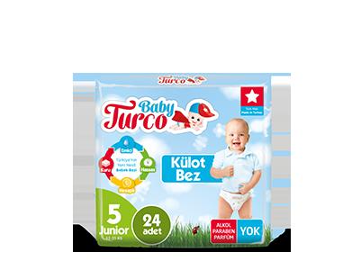 Baby Turco Junior 5 Beden Külot Bez 24 ADET