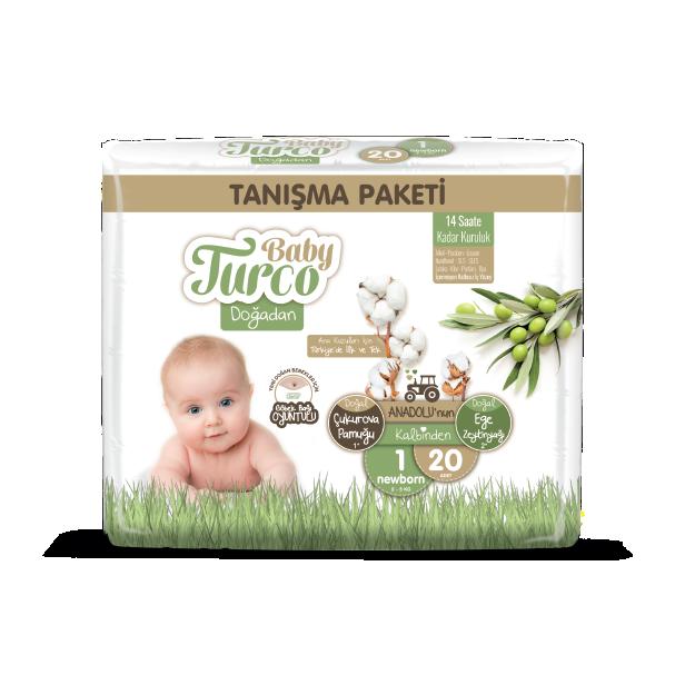 Baby Turco Doğadan Newborn 1 Beden Bebek Bezi Tanışma Paketi