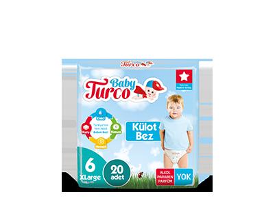 Baby Turco Xlarge 6 Beden Külot Bez 20 ADET