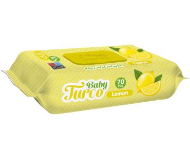 Baby Turco Limon Kokulu Islak Bebek Havlusu