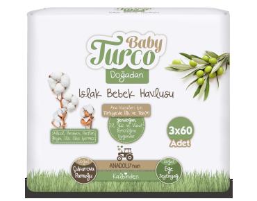 Baby Turco Doğadan Islak Bebek Havlusu