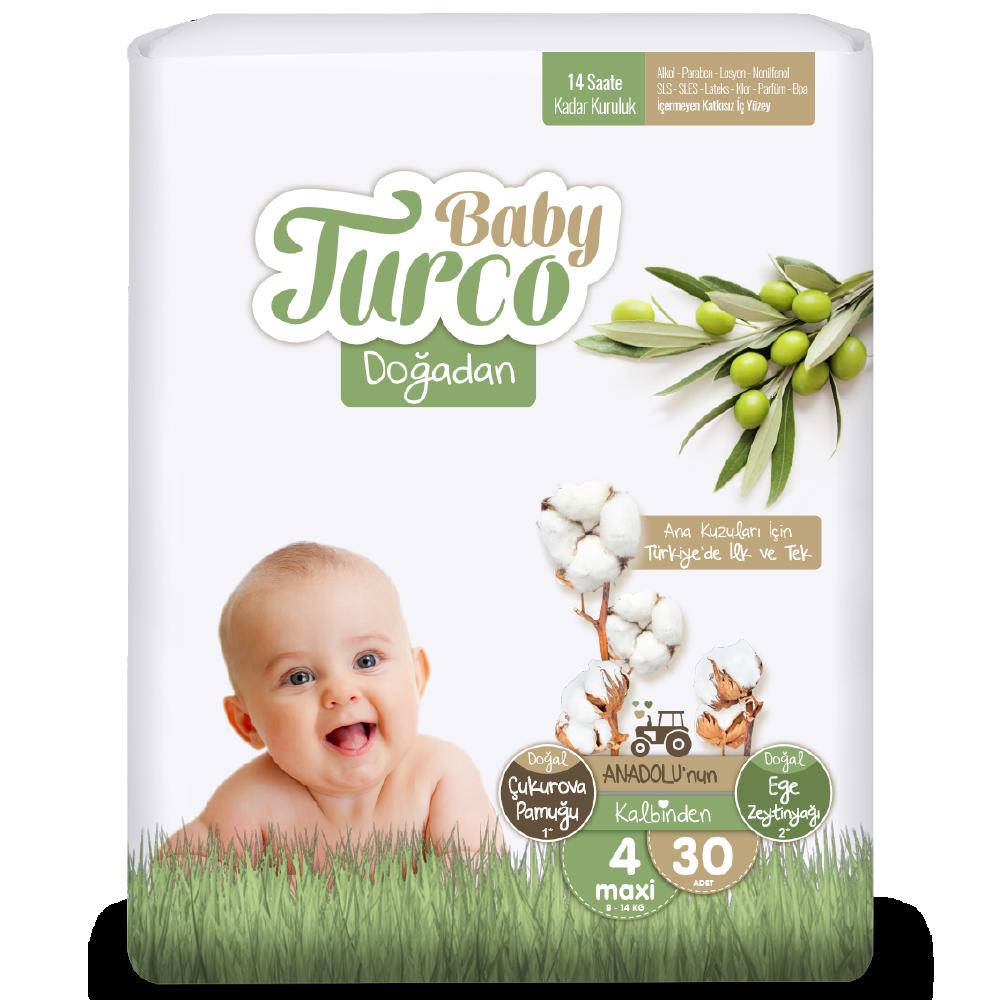 Baby Turco Doğadan Maxi 4 Beden Bebek Bezi