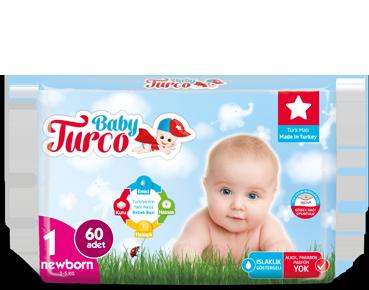 Baby Turco Newborn 1 Beden Bebek Bezi
