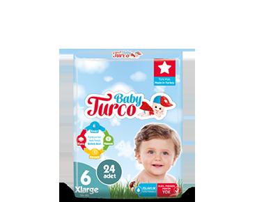 Baby Turco Xlarge 6 Beden Bebek Bezi