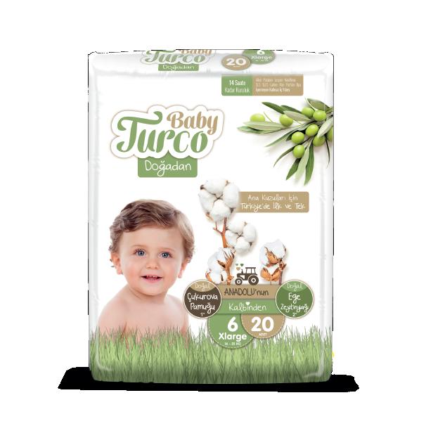 Baby Turco Doğadan XLarge 6 Beden Bebek Bezi