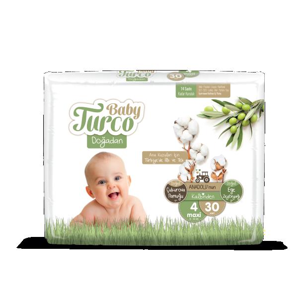 Baby Turco Maxi 4 Beden Bebek Bezi 30 ADET