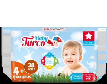Baby Turco Maxiplus 4+ Beden Bebek Bezi