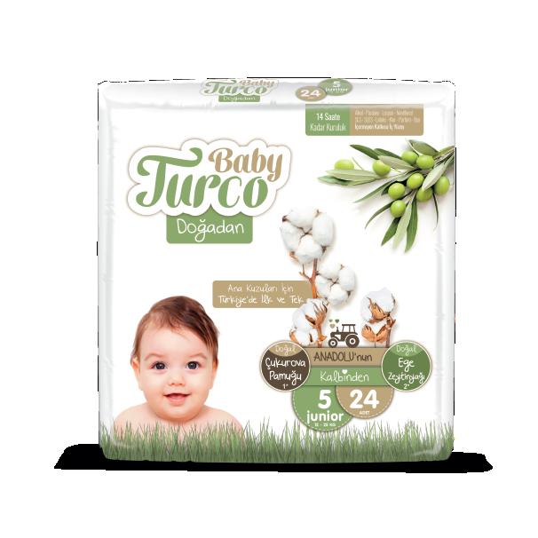 Baby Turco Junior 5 Beden Bebek Bezi 24 Adet