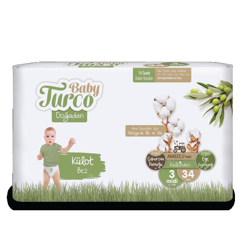 Baby Turco Doğadan 3 Beden Külot Bez
