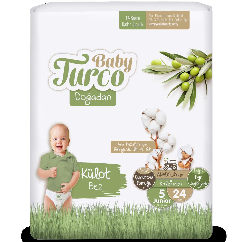 Baby Turco Doğadan Junior 5 Beden Külot Bez 24 ADET