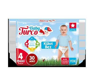 Baby Turco Maxi 4 Beden Külot Bez 30 ADET