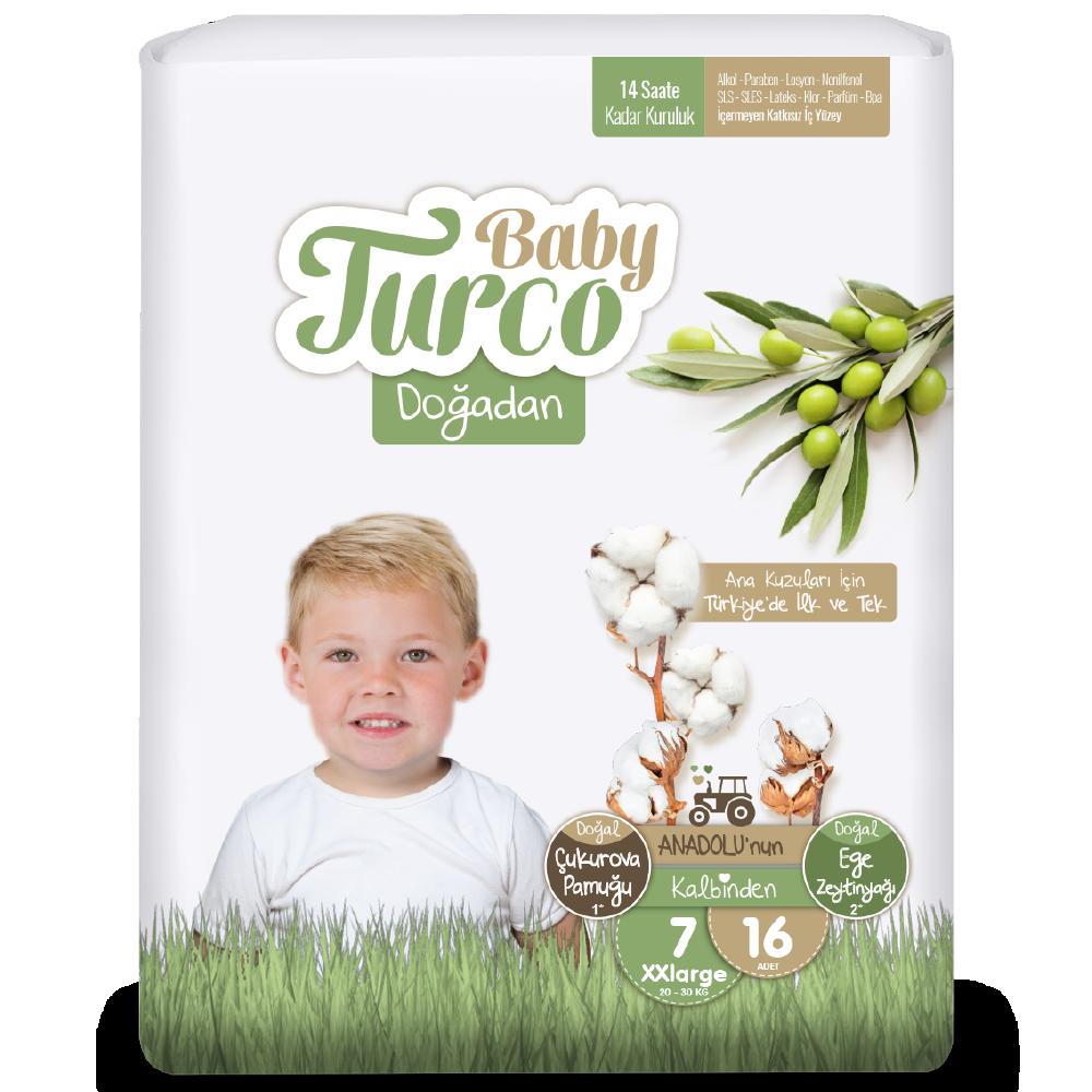 Baby Turco Doğadan XXLarge 7 Beden Bebek Bezi