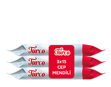 Baby Turco Cep Mendili 3X15