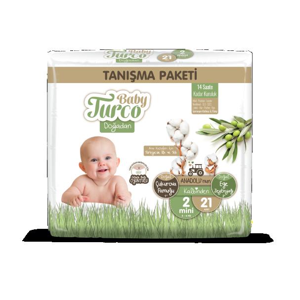 Baby Turco Doğadan Mini 2 Beden Bebek Bezi Tanışma Paketi