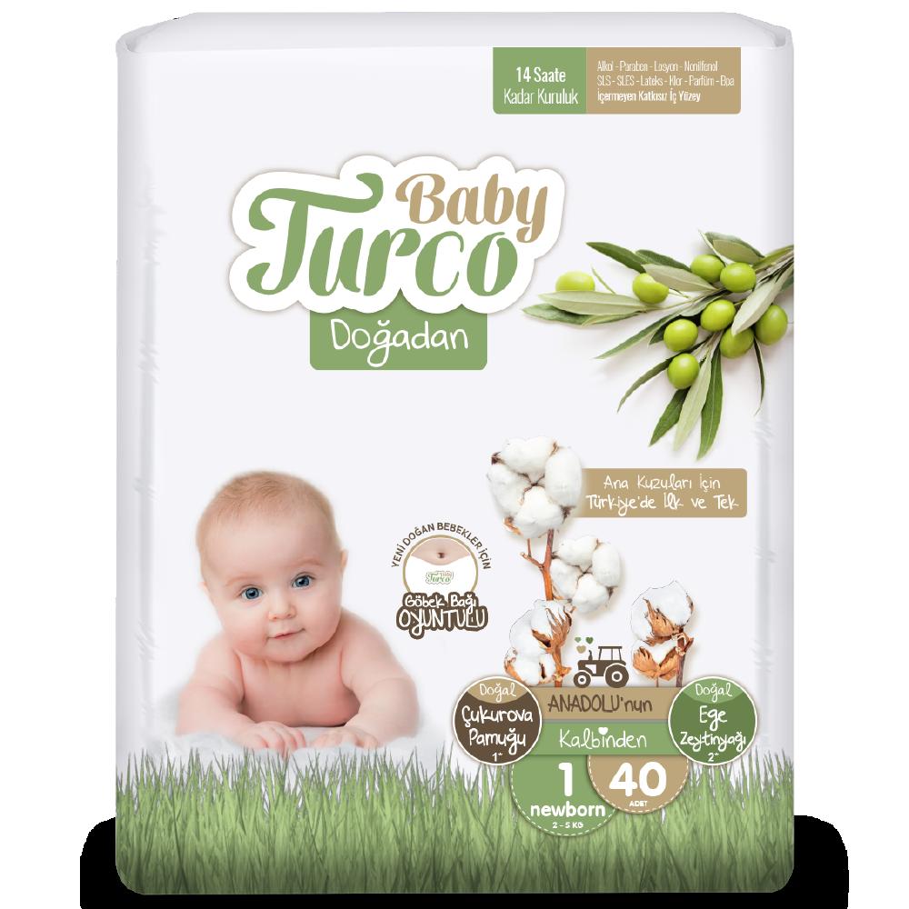 Baby Turco Doğadan Newborn 1 Beden Bebek Bezi