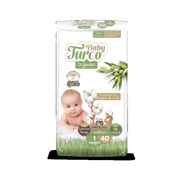 Baby Turco Newborn 1 Beden Bebek Bezi 40 ADET