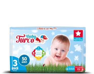Baby Turco Midi 3 Beden Bebek Bezi