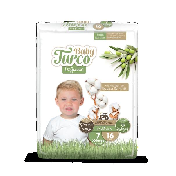 Baby Turco Maxi Plus 7 Beden Bebek Bezi 16 ADET