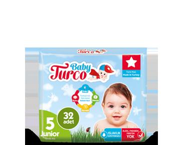 Baby Turco Junior 5 Beden Bebek Bezi