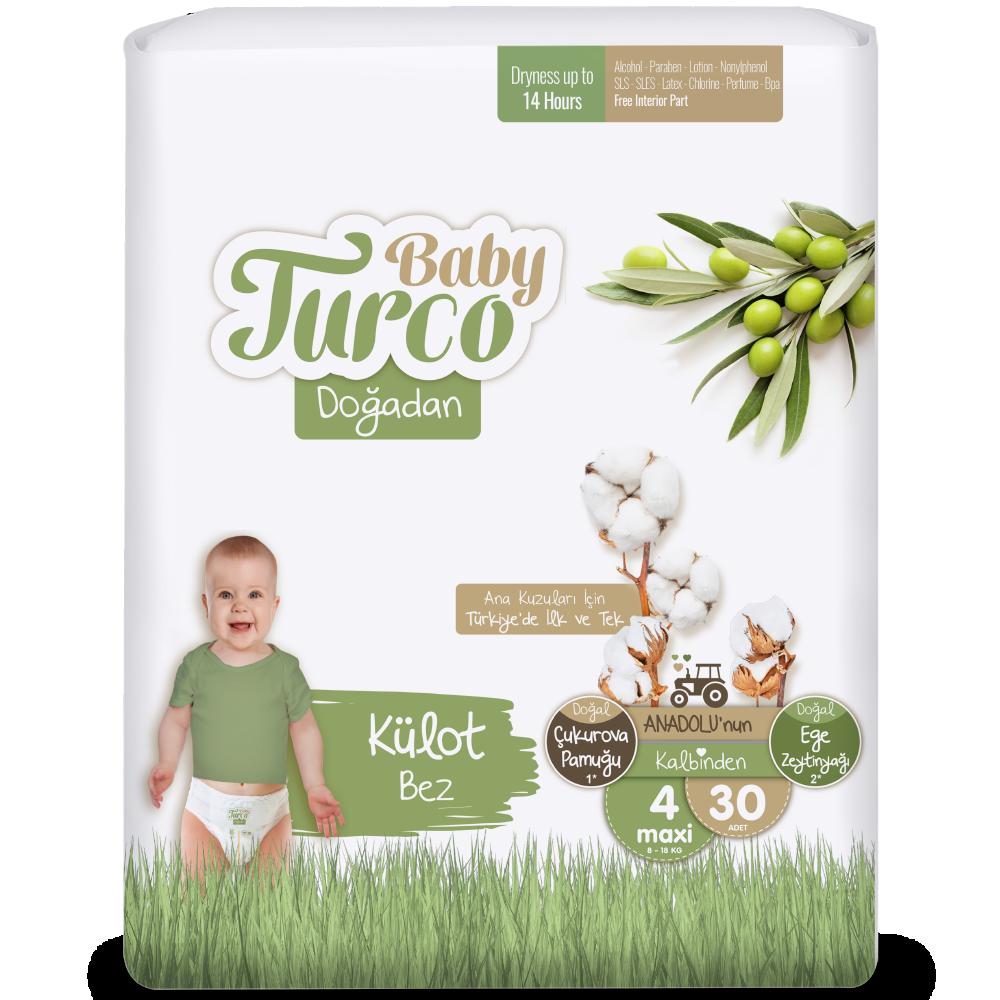 Baby Turco Doğadan Maxi 4 Beden Külot Bez 30 ADET