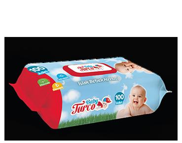 Baby Turco Islak Havlu 100'lü